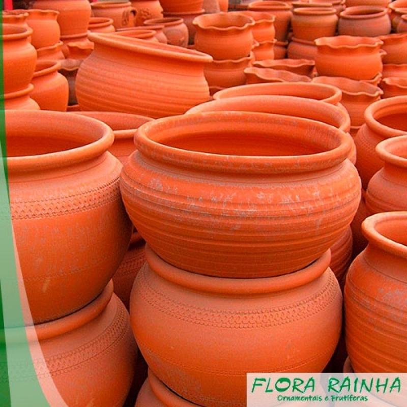 Onde Vende Vaso de Barro para Jardim Carapicuíba - Vaso de Cimento para Jardim