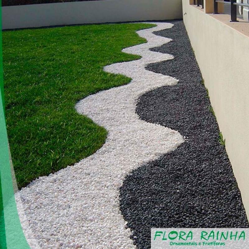 Pedra Branca para Jardim Valor Vila Sônia - Limitador de Grama para Jardim