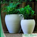 vaso de polietileno para jardim