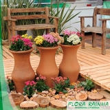 vaso de barro para jardim Vila Buarque