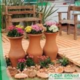 vaso de barro para jardim Mauá