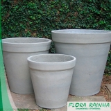 vaso de cimento para jardim valor Cambuci